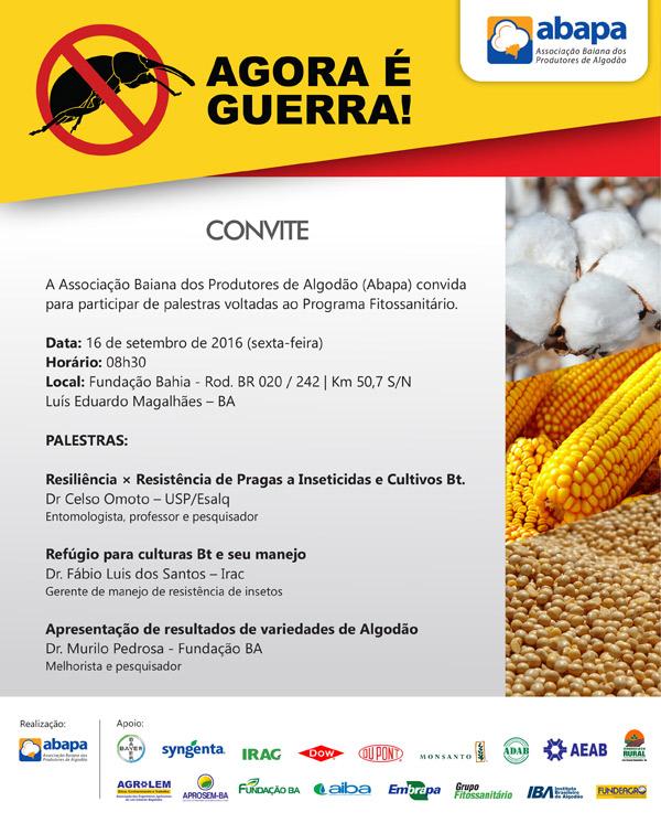 promip manejo ntegrado de pragas controle biologico convite palestra programa fitossanitario