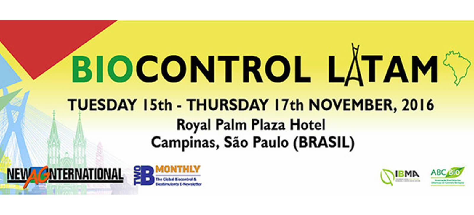 promip manejo integrado de pragas controle biologico biocontrol latam 2016 conference