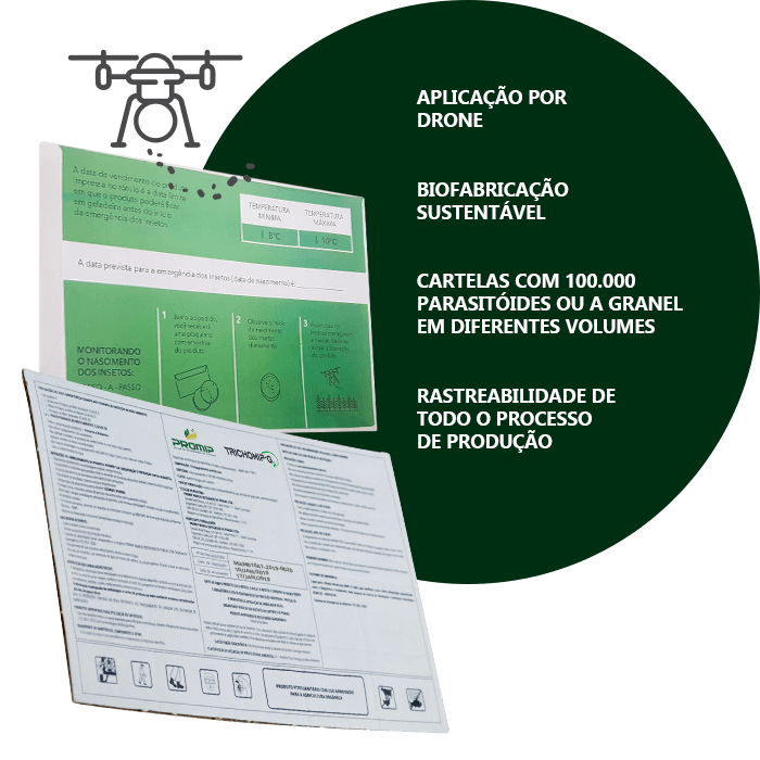 promip controle biologico manejo integrado de pragas background trichomip g embalagem biotecnologica